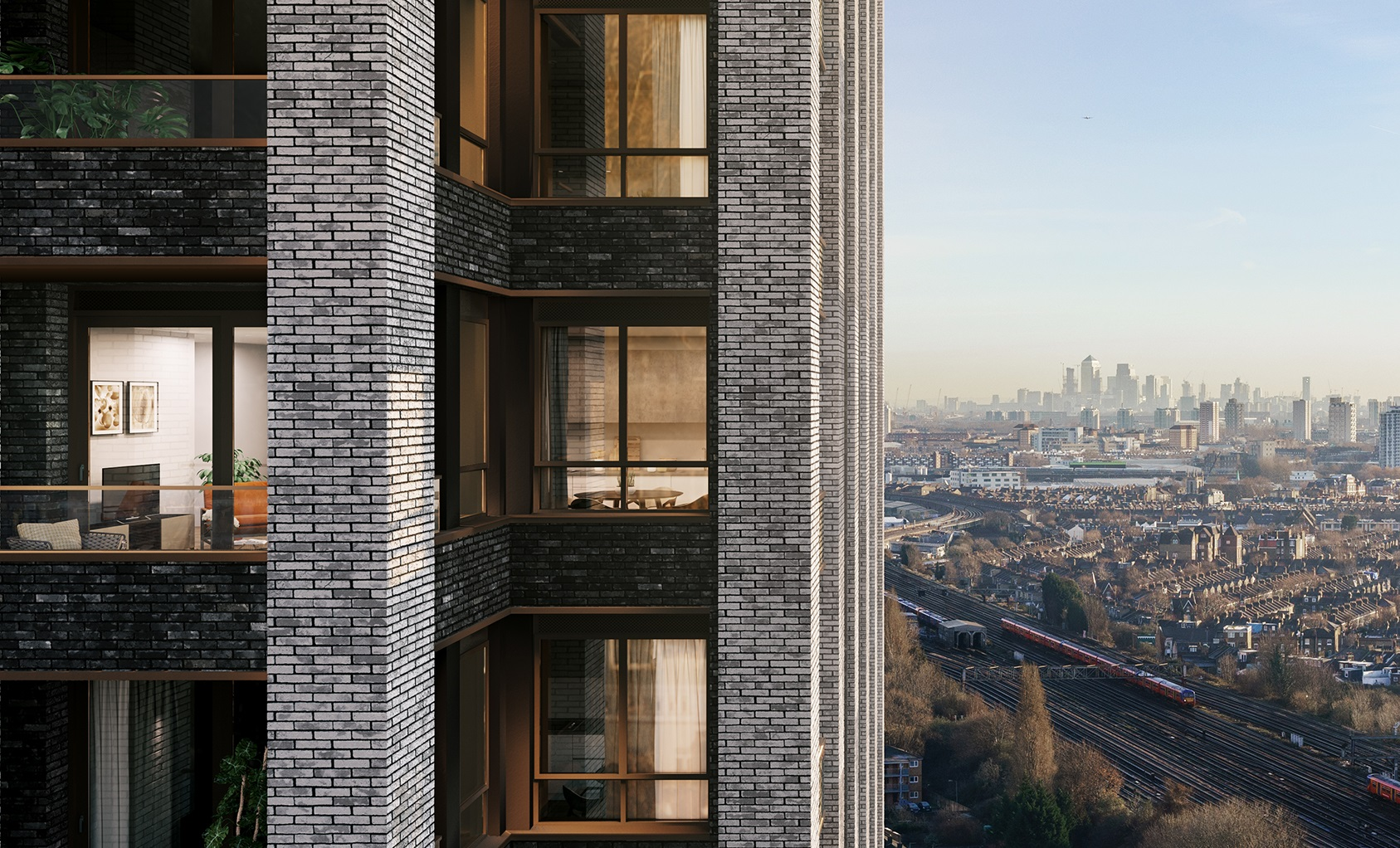 New development overlooking south west London