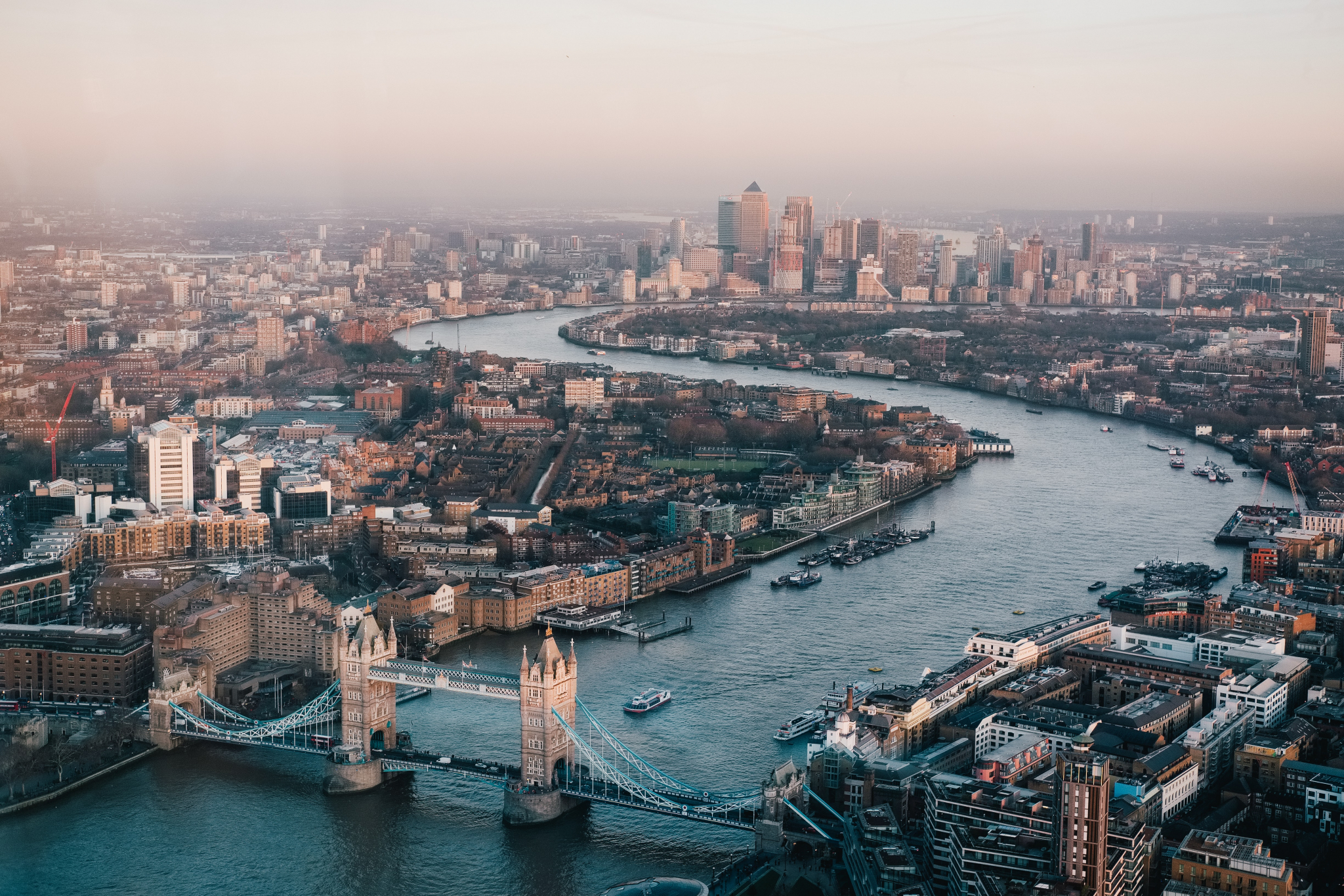 Central London from above