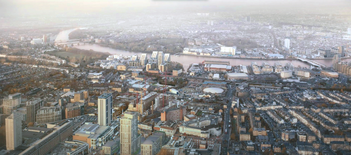 view of Wandsworth from above