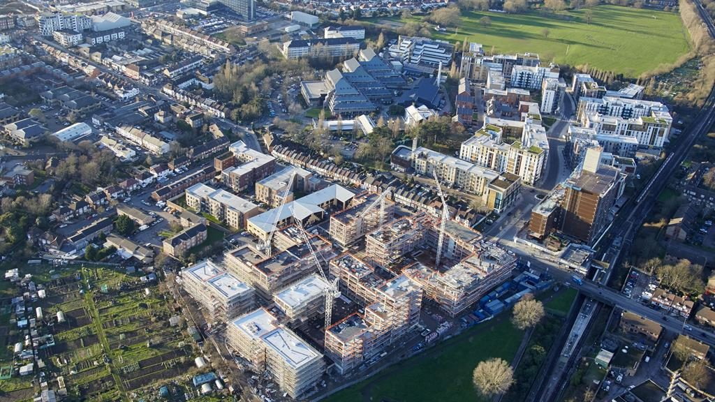 Colindale from above