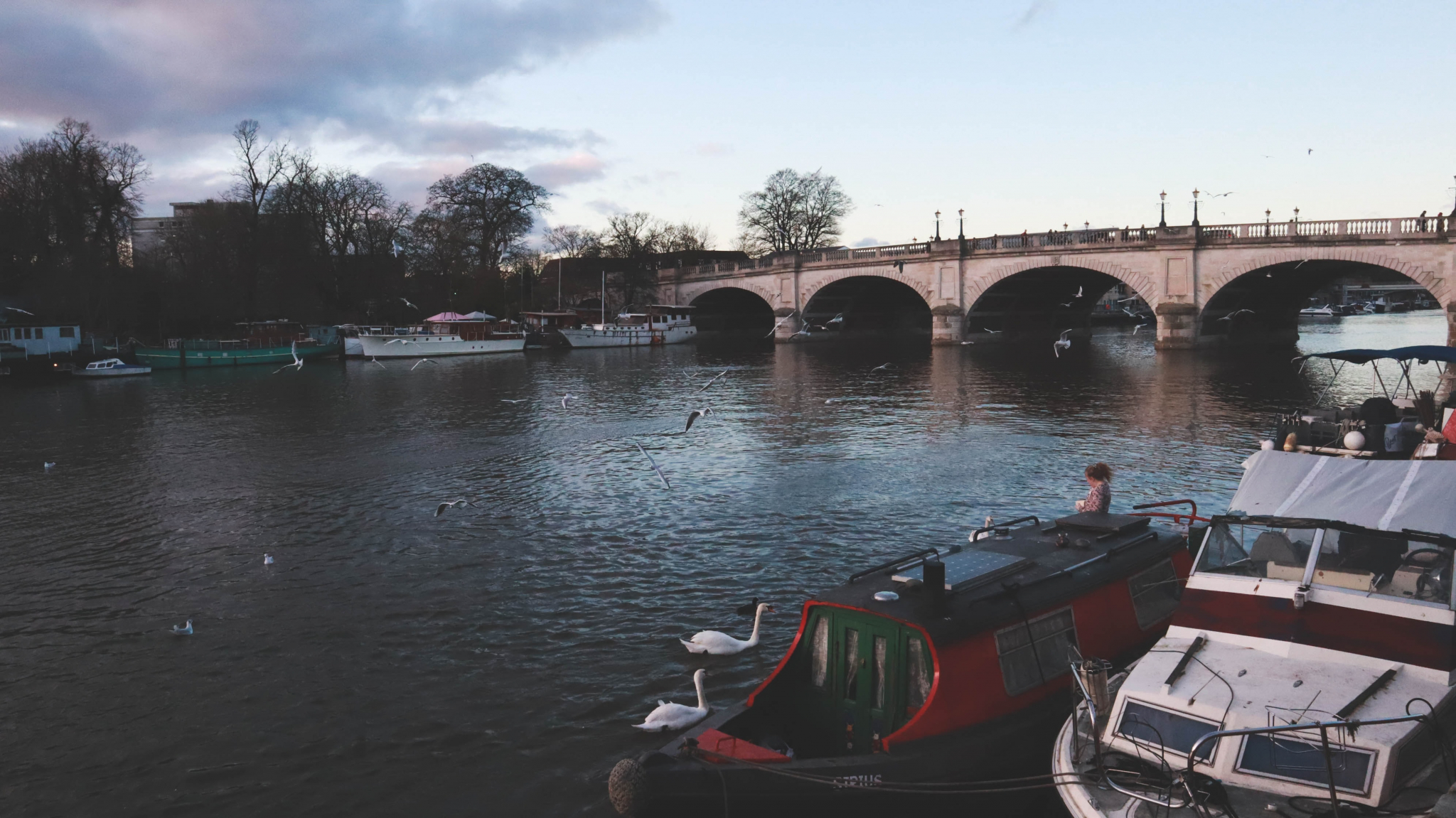 River with bridge in Kingston Upon Thames