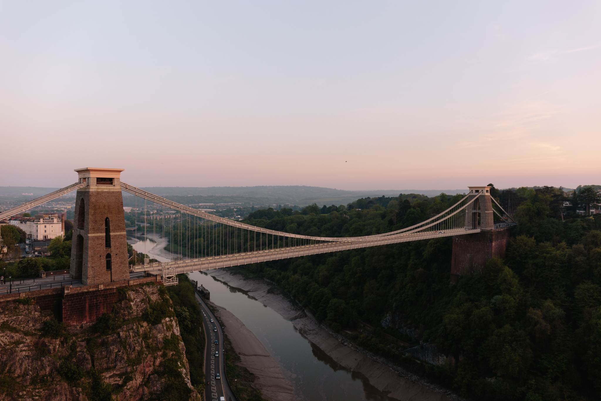 Bristol Suspension Bridge at dusk