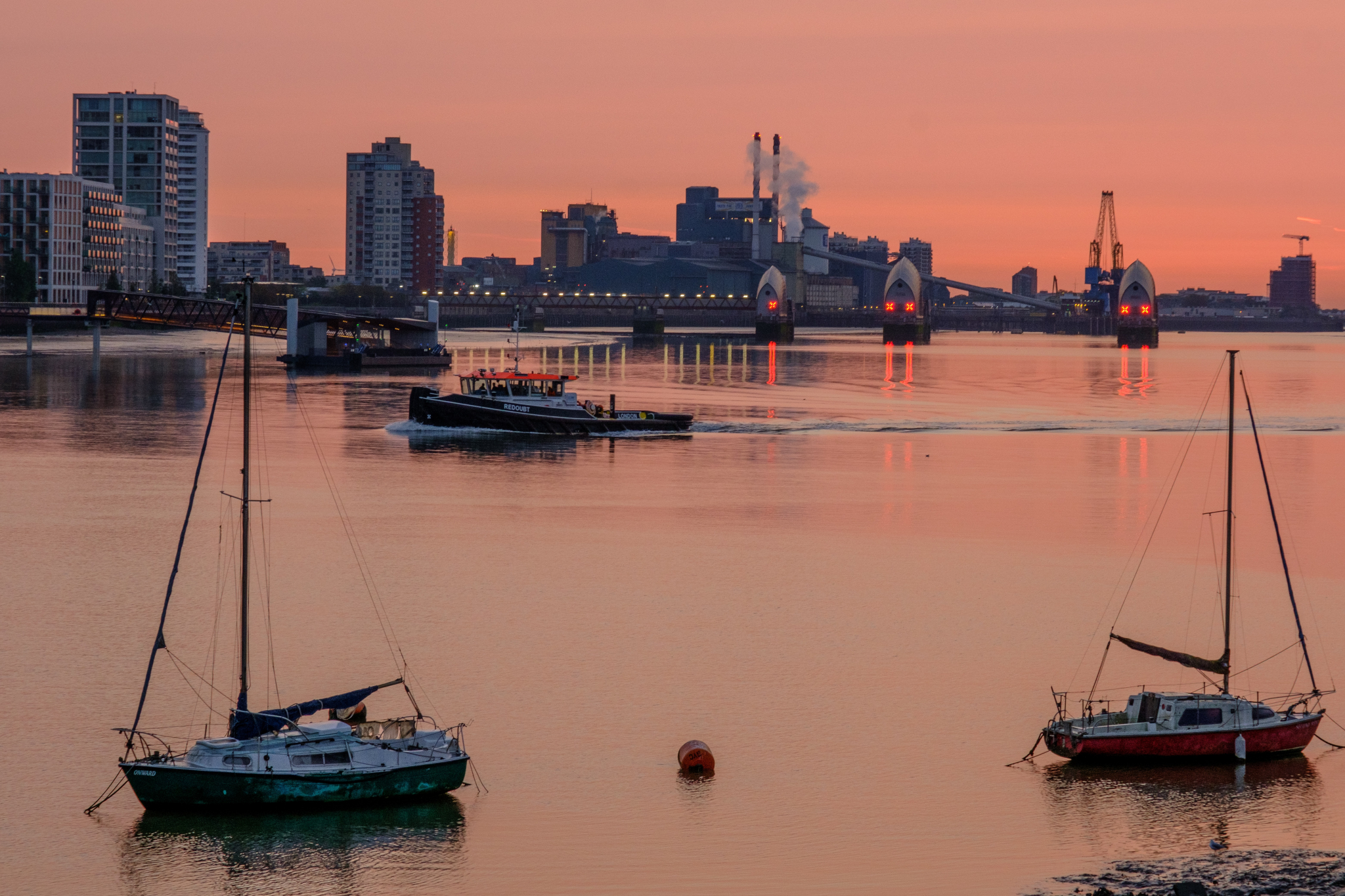 Royal Docks at sunset
