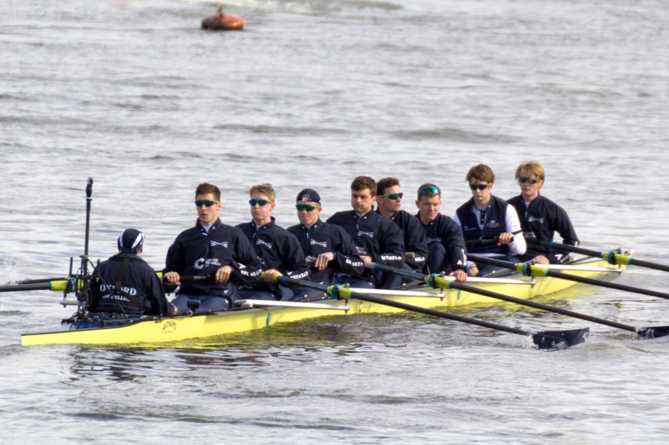 The Blues in the 2016 Oxford Cambridge Boat Race