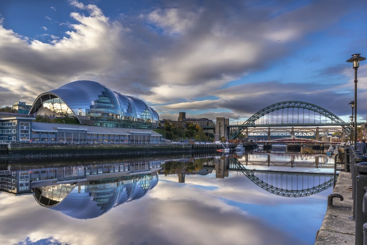 View over Newcastle and the Tyne Bridge