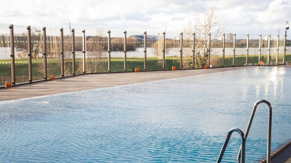 The swimming pool at the Blackhorse Mills development, run by our top property management company Urbanbubble